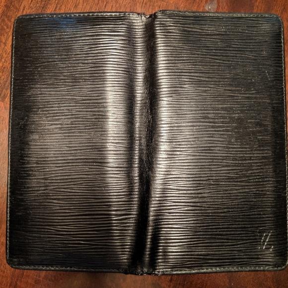 Louis Vuitton Handbags - Authentic Louis Vuitton Black Epi CheckBook holder